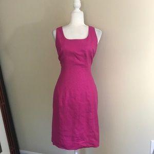 Ann May Pink Sleeveless Sheath Dress 100% Silk